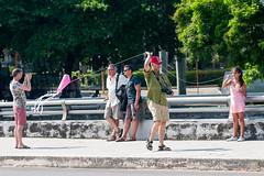 El turista y la niña