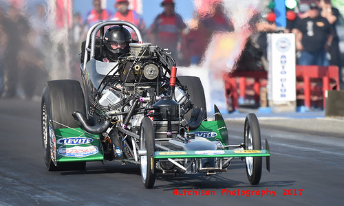 Top Fuel runner up Jim Murphy broke on the burnout giving Fry her first March Meet win
