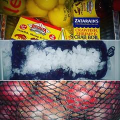 #crawfishboil #itsgoingdown tomorrow's lunch @bcb_transport #zatarains #crystalhotsauce
