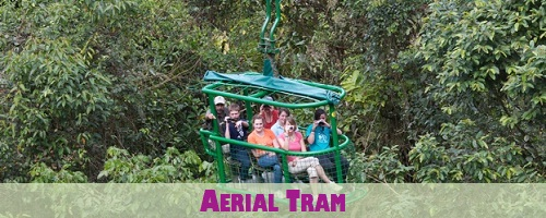 Costa Rica Aerial Tram near Limon and San Jose