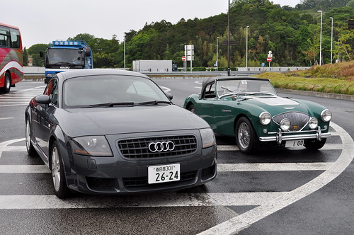 Audi TT Coupe & Austin Healey 100