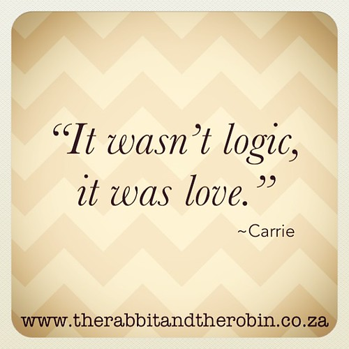 "It wasn't logic, it was love"" Carrie #satc #satc15 #carrie #quote #love"