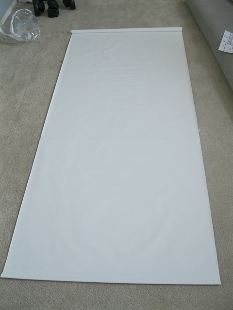 roller shade on floor