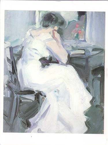 Woman in White Reading