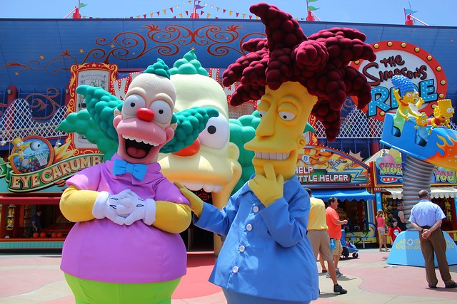 Sideshow Bob and Krusty the Clown at Universal Orlando