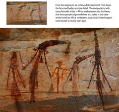Bradshaw / Gwon Gwon rock art Royal Family
