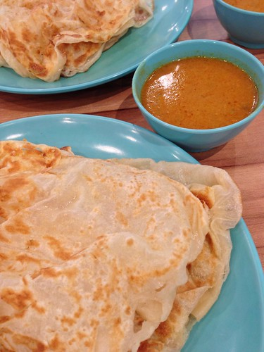 Fluffy plain Roti Prata