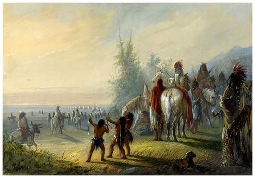 010-Trasladando el campamento-Alfred Jacob Miller-1858-1860-Walters Art Museum