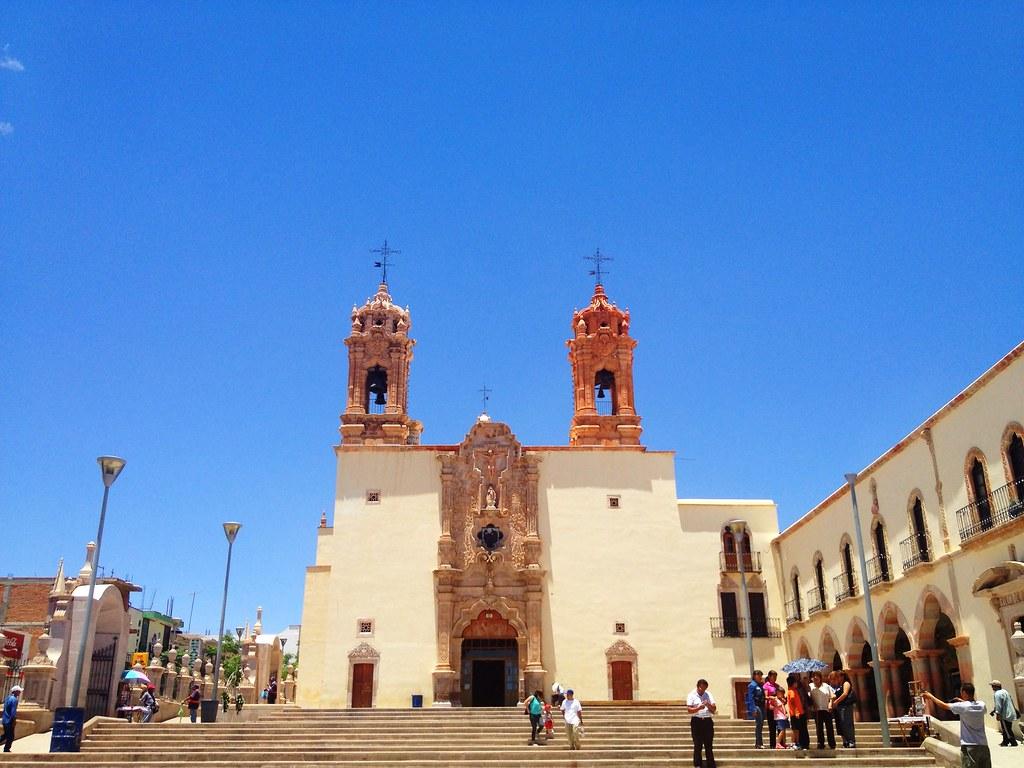 Vista de la facha del Santuario de Plateros en Zacatecas