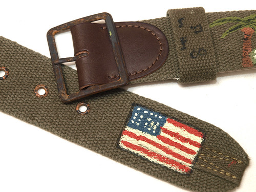 RRL / Hand-Painted Canvas Belt