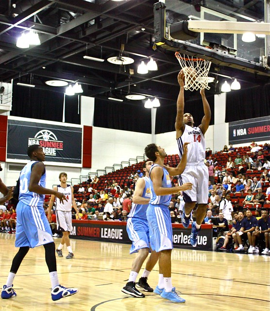 Glen Rice Jr to the hole - Washington Wizards - 2013 NBA Las Vegas Summer League