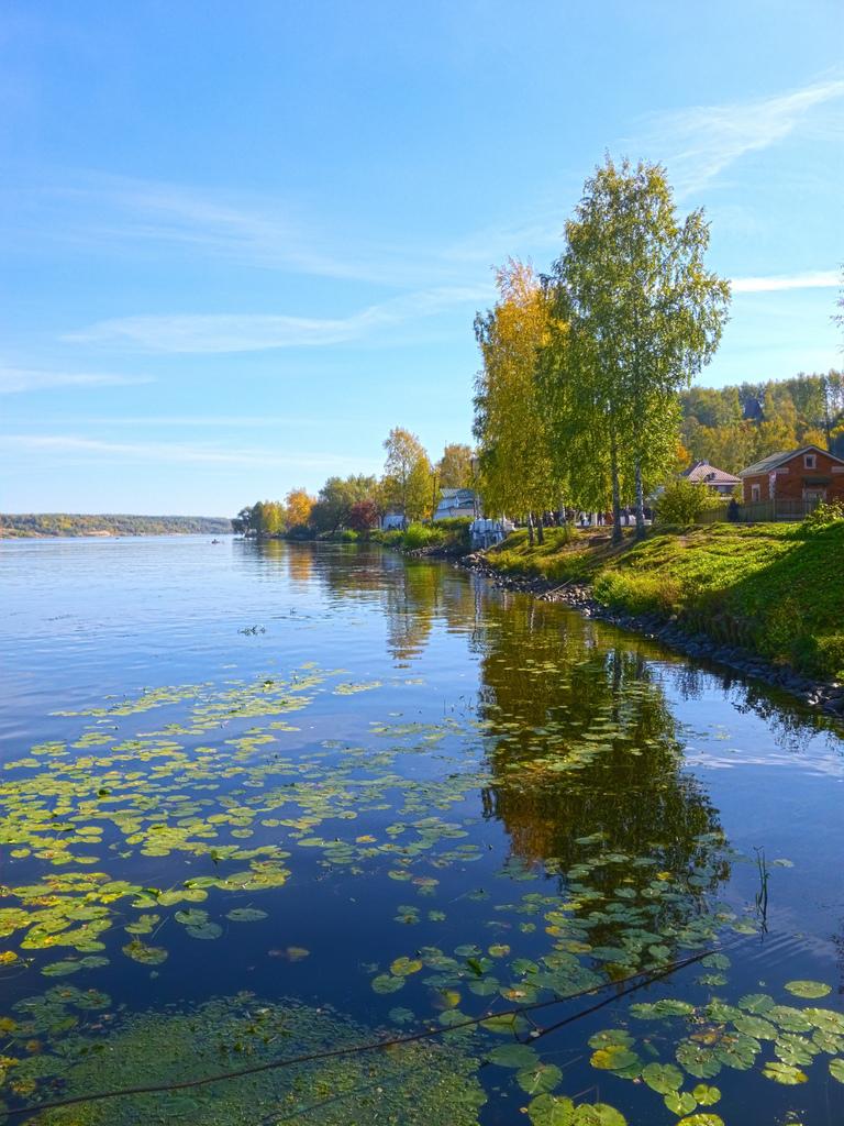 Río Volga en el Óblast de Ivanovo