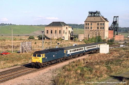 train diesel railway britishrail southyorkshire passengertrain class47 denaby 47427