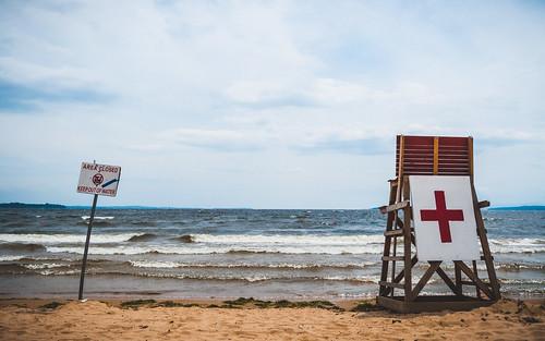 lake beach water stand closed lifeguard vacant lakechamplain week4