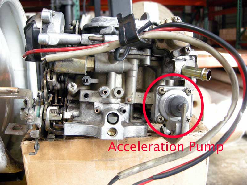 Auxiliary accelerator pump toyota