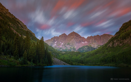 pictures longexposure trees summer mountain mountains nature beautiful sunrise canon landscape photography colorado colorful peak valley lee aspen filters roaringfork maroonbells maroonlake pitkincounty 10stop induro bigstopper tobyharriman