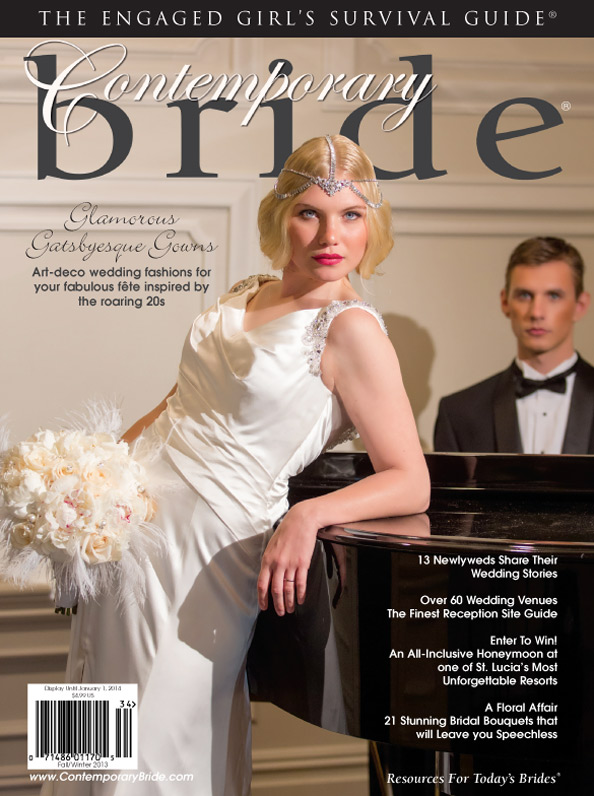 Contemporary Bride Magazine editorial and covers featuring Bridal Styles!