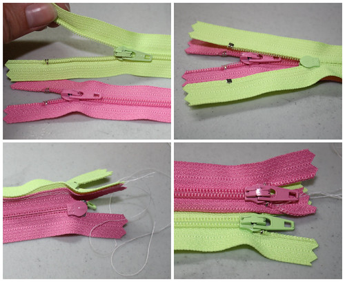 Zipper pouch step 1