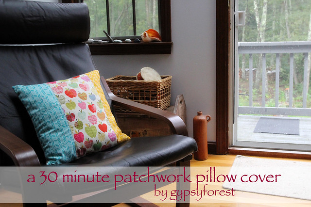 a 30 minute patchwork pillow cover