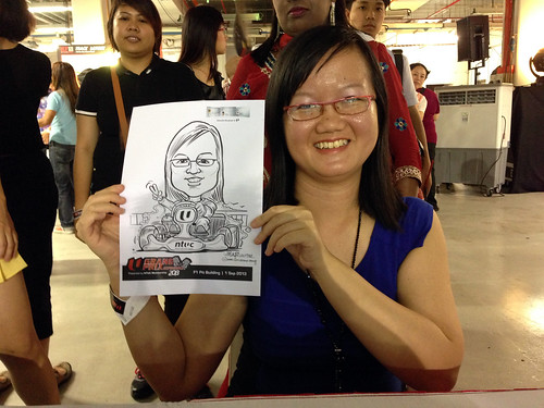 caricature live sketching for NTUC U Grand Prix Experience 2013 - 33