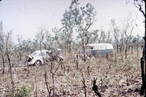 68 VW Repair  Pendjari River Upper Volta-Dahomey - Boukina Faso Benin border Near Niger River A1-062
