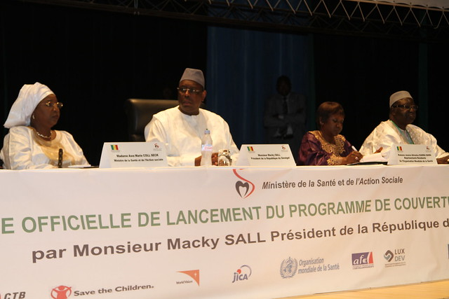ceremonie officielle de lancement du programme de couverture maladie universelle