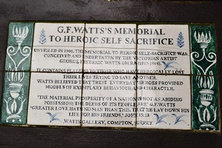 G.F. Watts Memorial Plaque