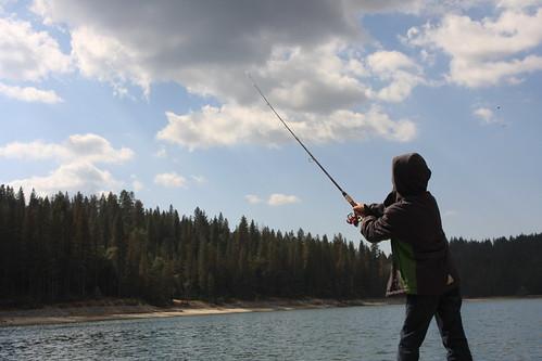 Fishing Bass Lake No. 4