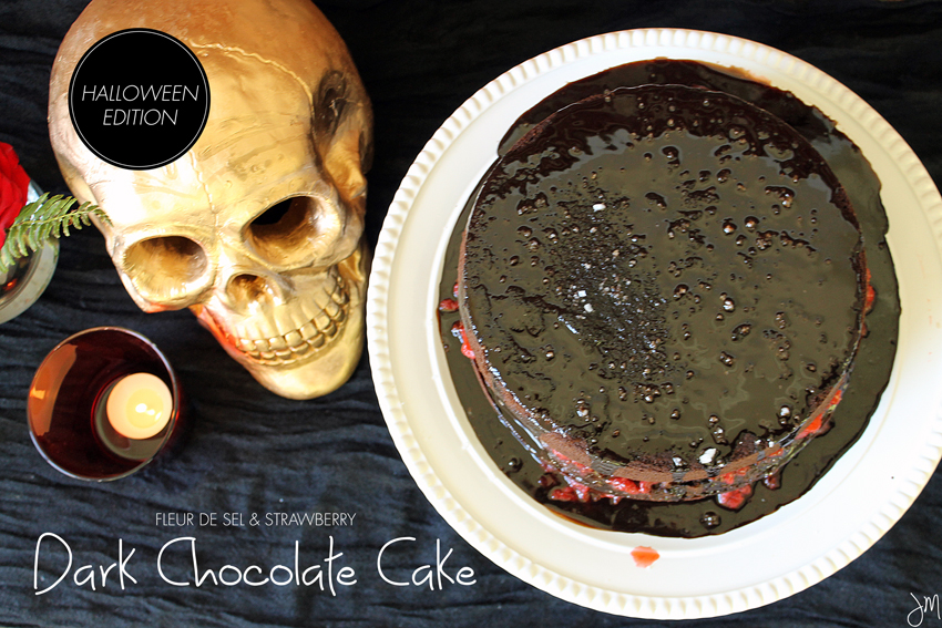 Julip Made dark chocolate strawberry Halloween cake4