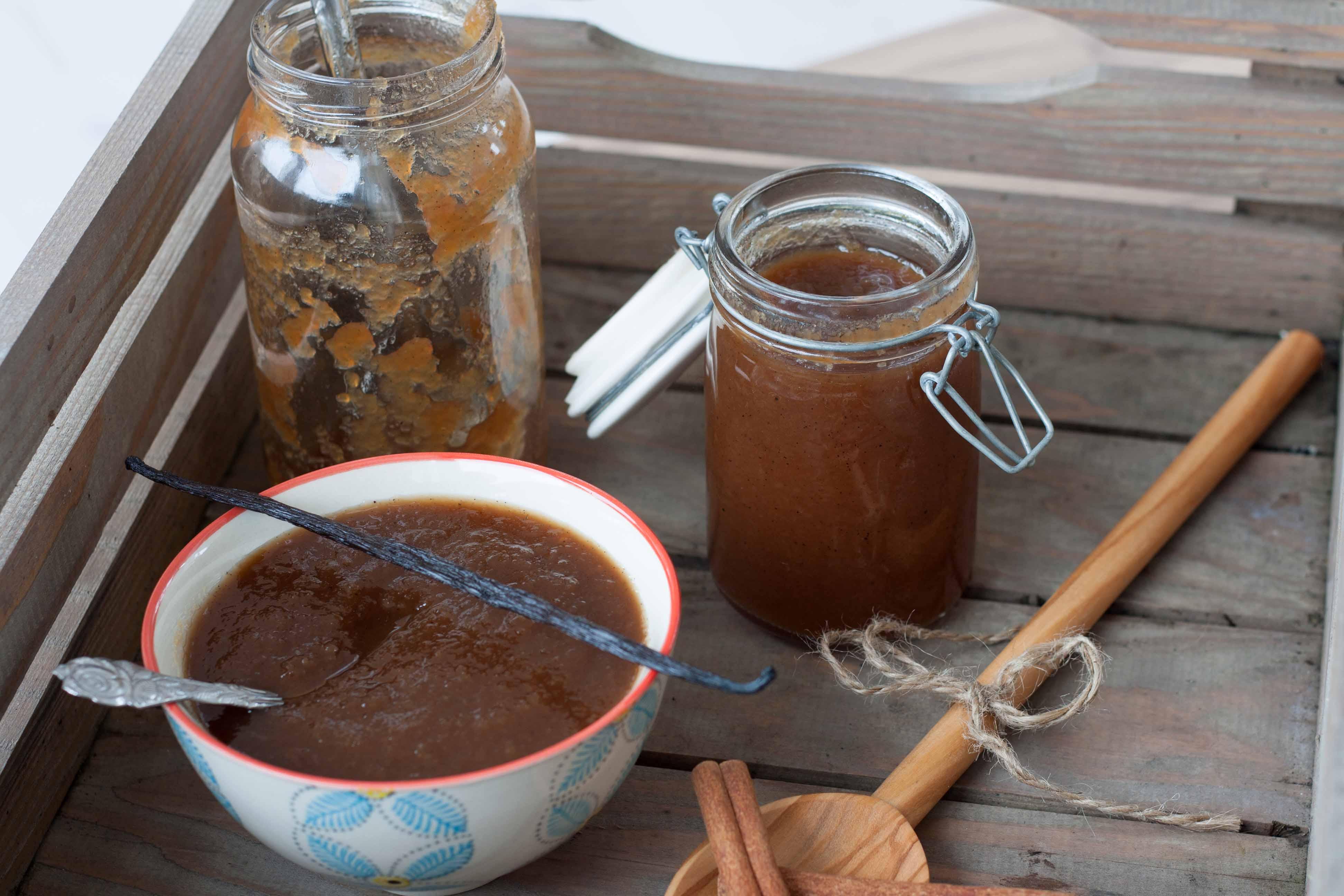 Opskrift på hjemmelavet Æblesmør med vanilje & kanel, apple butter