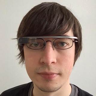 ChrisNTR wearing Google Glass
