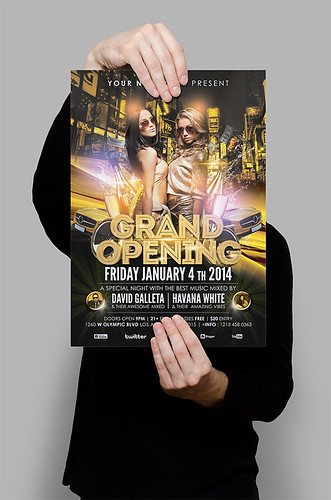Grand Opening - Luxury Night Party Flyer/Poster 02