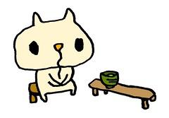 茶店の茶を飲む、あどけないむー