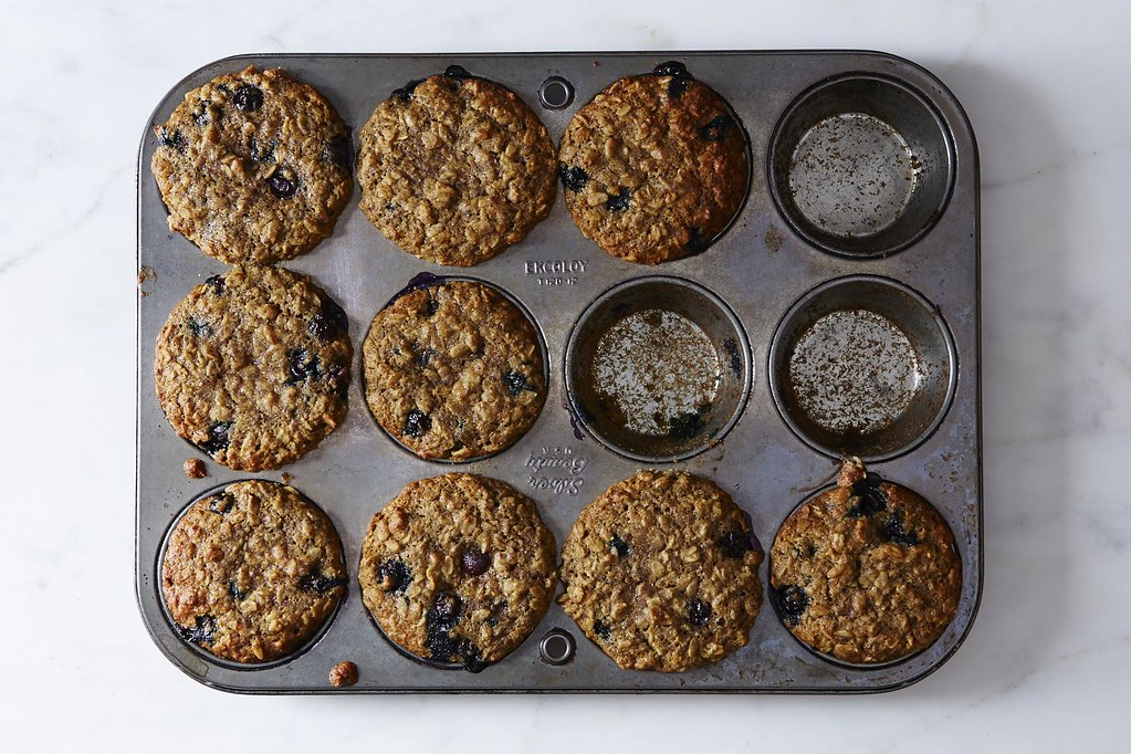 Blueberry, Oatmeal and Flax Muffins