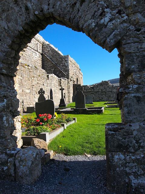 Monastery cemetery in Ireland