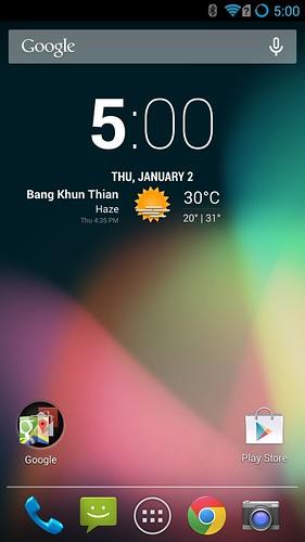 Home screen ของ Oppo N1 Cyanogen Edition