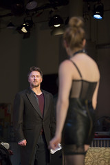 Chris Kipiniak as Thomas and Andrea Syglowski as Vanda in the Huntington Theatre Company's production of VENUS IN FUR. Jan. 3 - Feb. 2, 2014. Photo: T. Charles Erickson