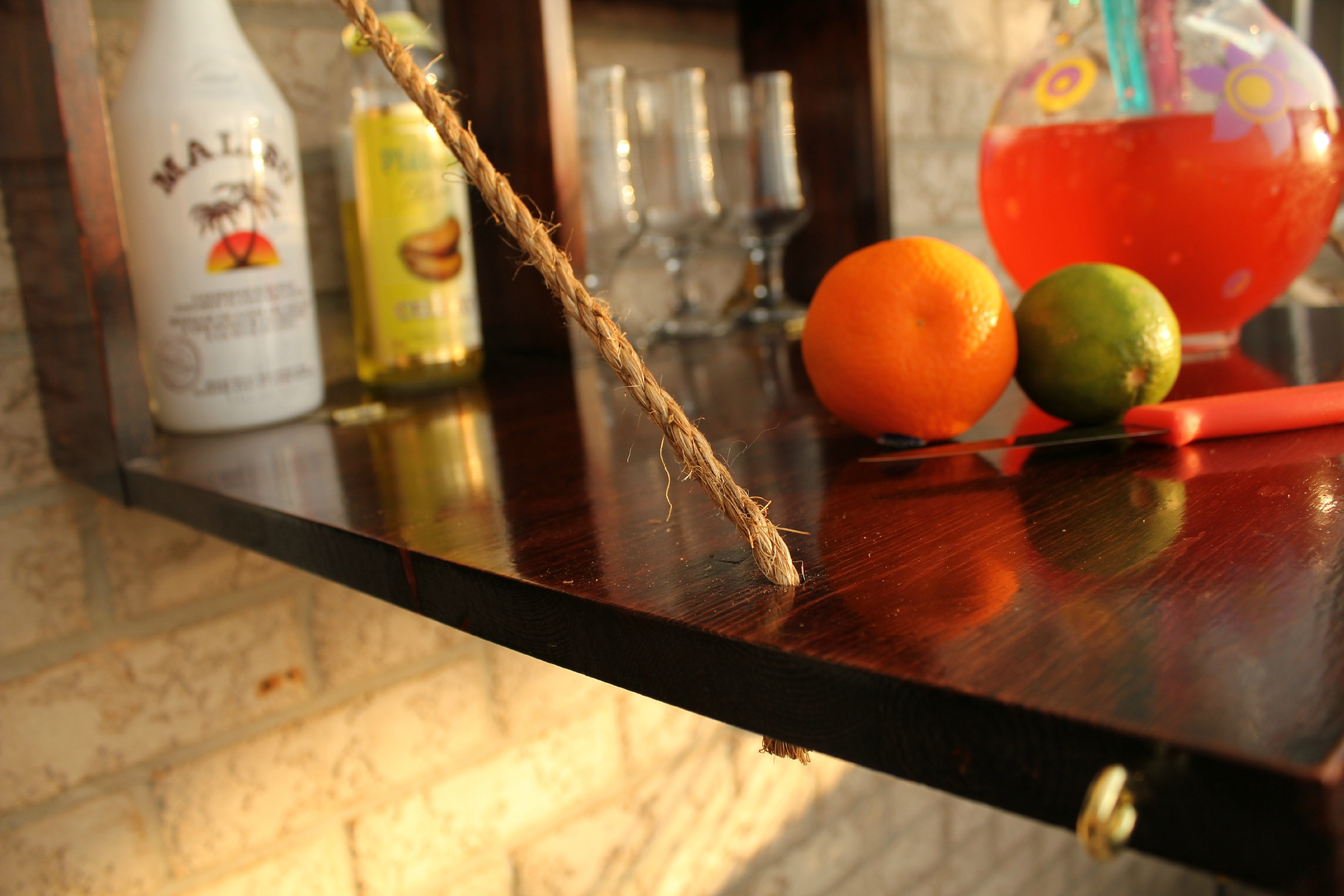 DIY fold down bar