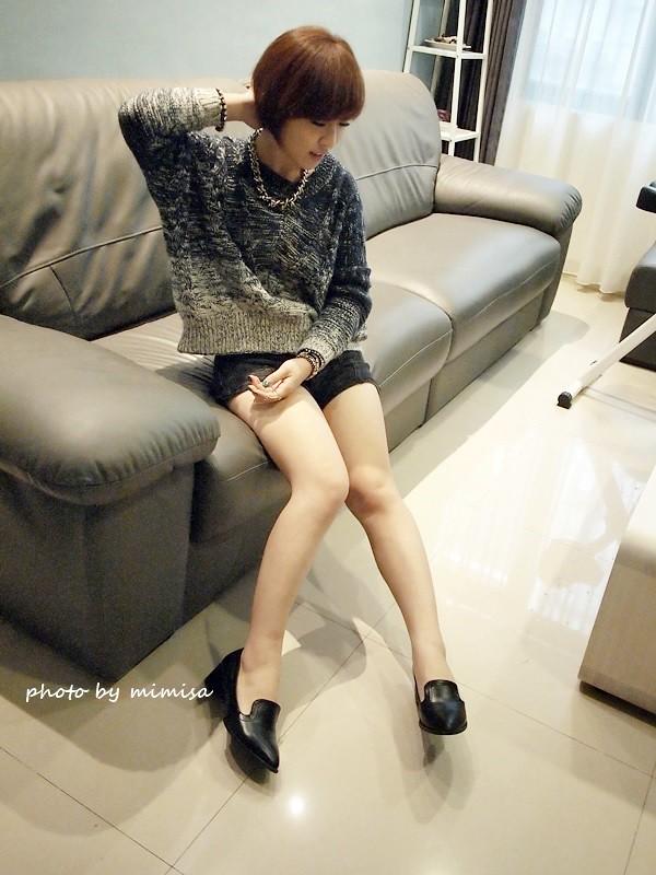Queen Shop 毛衣 牛仔短褲 (3)