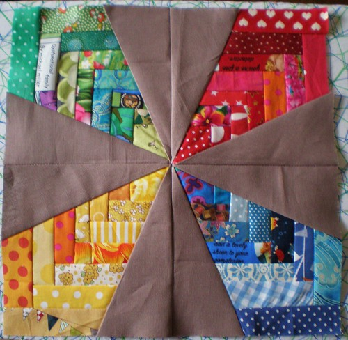 Patchwork Star in Progress