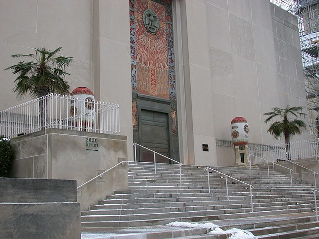 Scottish Rite Temple palms
