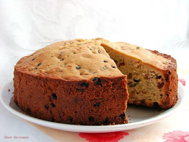кекс с изюмом - plum cake 1