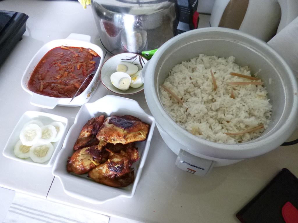 Nasi lemak lunch