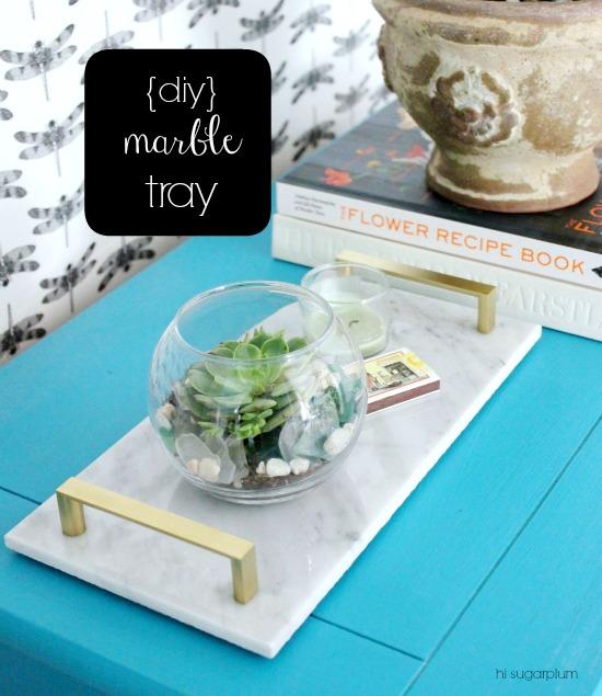 Hi sugarplum diy marble tray Hi sugarplum