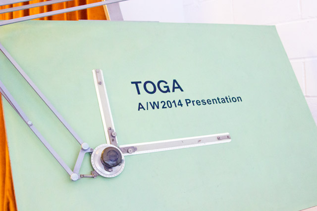Toga Archives aw14 London Fashion Week presentation