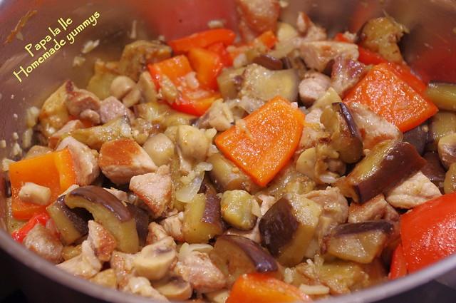 Mancare de vinete cu carne de porc (8)