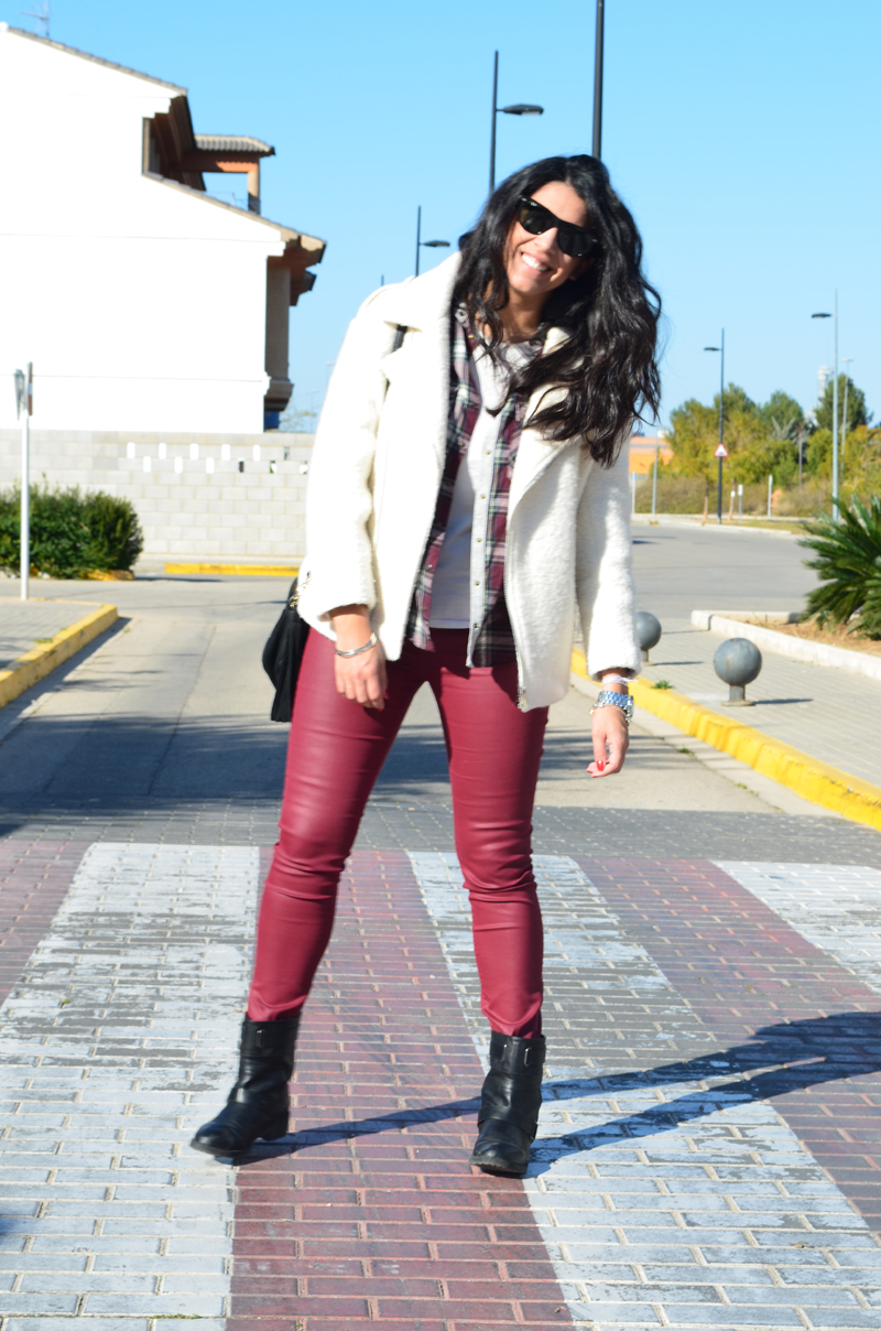 florenciablog total look burgundy inspiration burgundy look granate fieltro jacket cream jacket gandia españa bloggers (6)