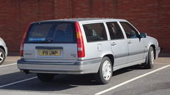 compact car(0.0), sedan(0.0), automobile(1.0), automotive exterior(1.0), family car(1.0), vehicle(1.0), volvo v70(1.0), volvo 850(1.0), bumper(1.0), volvo cars(1.0), land vehicle(1.0),