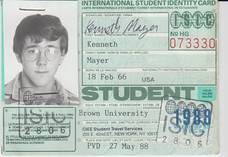 1988 International Student ISIC ID