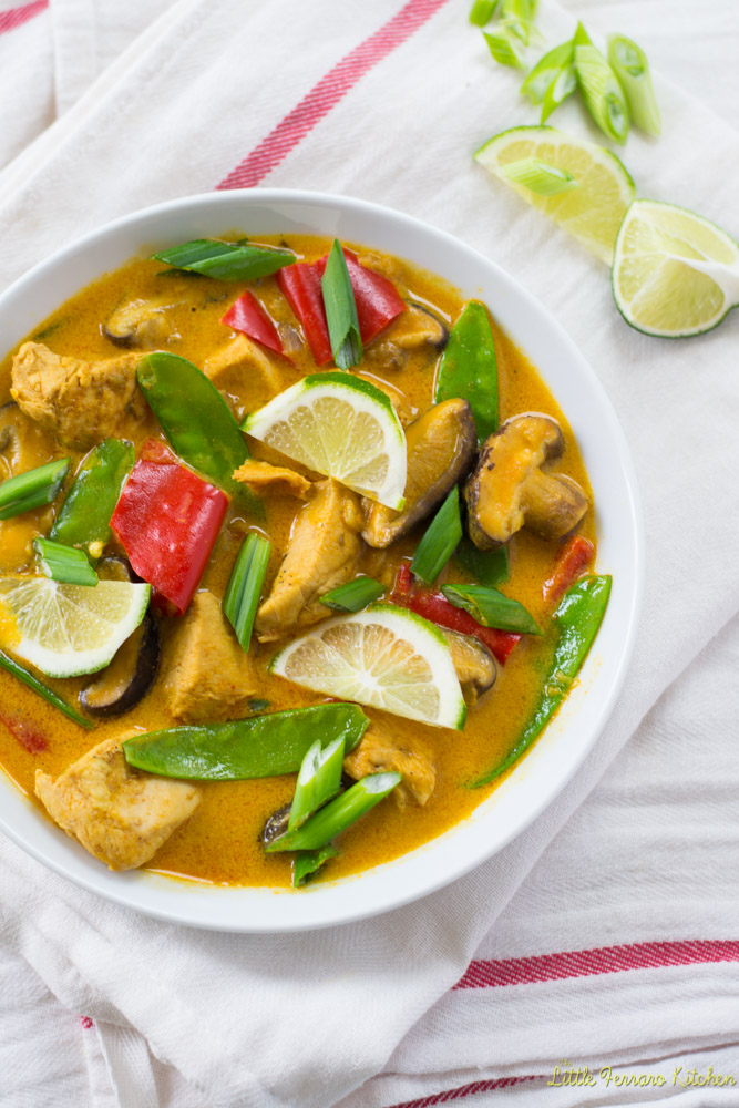 Lemongrass Chicken Coconut Curry via LittleFerraroKitchen.com